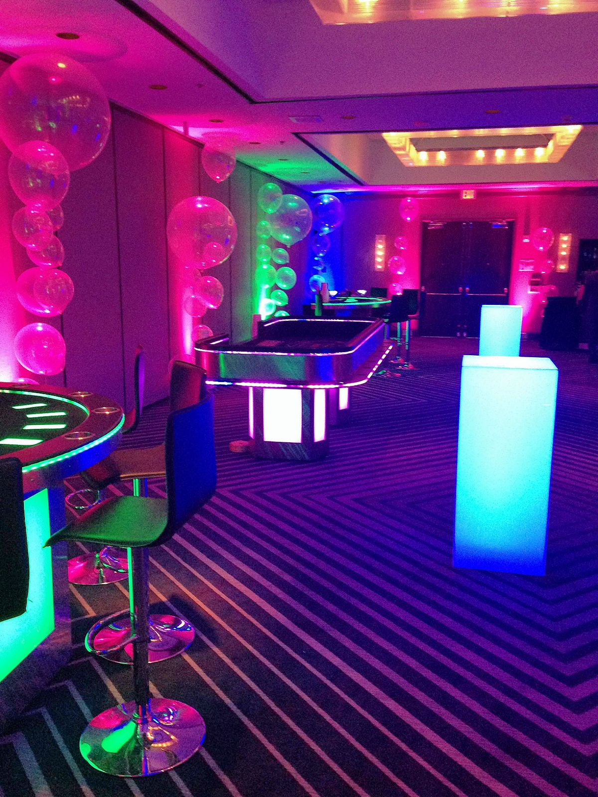 Our Founder S Ballroom Styled Into A Casino Neon Aesthetic Neon Lighting