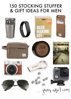 today i am sharing 150 stocking stuffer and gift ideas for men perfect to knock your entire list out in one shot