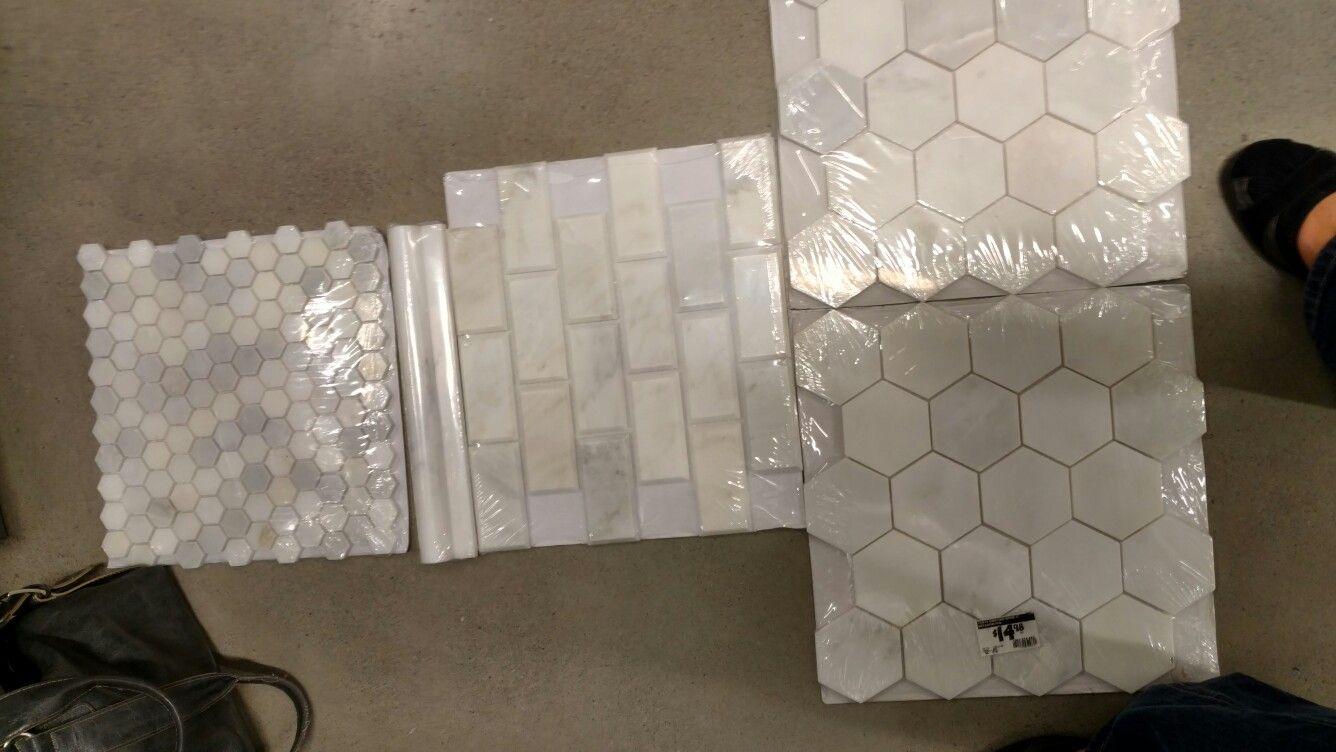 Home Depot Grecian 2 White Tile Hexagon