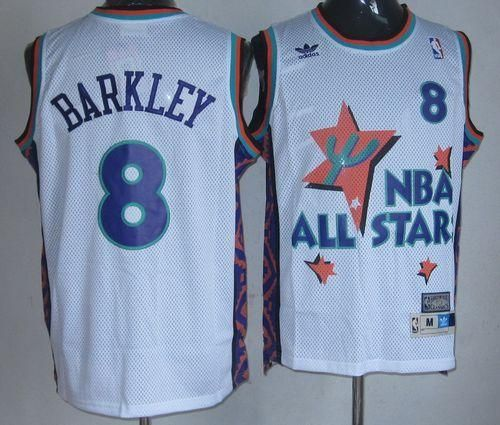 ac9e6b195 ... san antonio spurs 50 david robinson authentic silver alternate apparel  state  suns 8 charles barkley white 1995 all star throwback stitched nba  jersey
