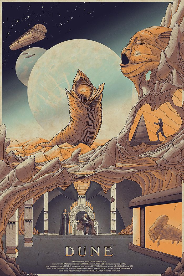 """kogaionon:  """"Dune by Cristian Eres / Behance / Facebook / Twitter / Tumblr / Instagram / Store  24"""" x 36"""" screen print, numbered edition of 50. Private commission, not for sale.  """""""