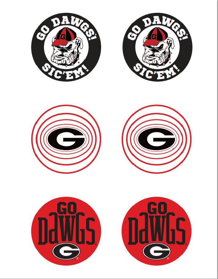 Uga Buttons Printable Georgia Dawgs Uga Bulldogs Georgia Bulldogs
