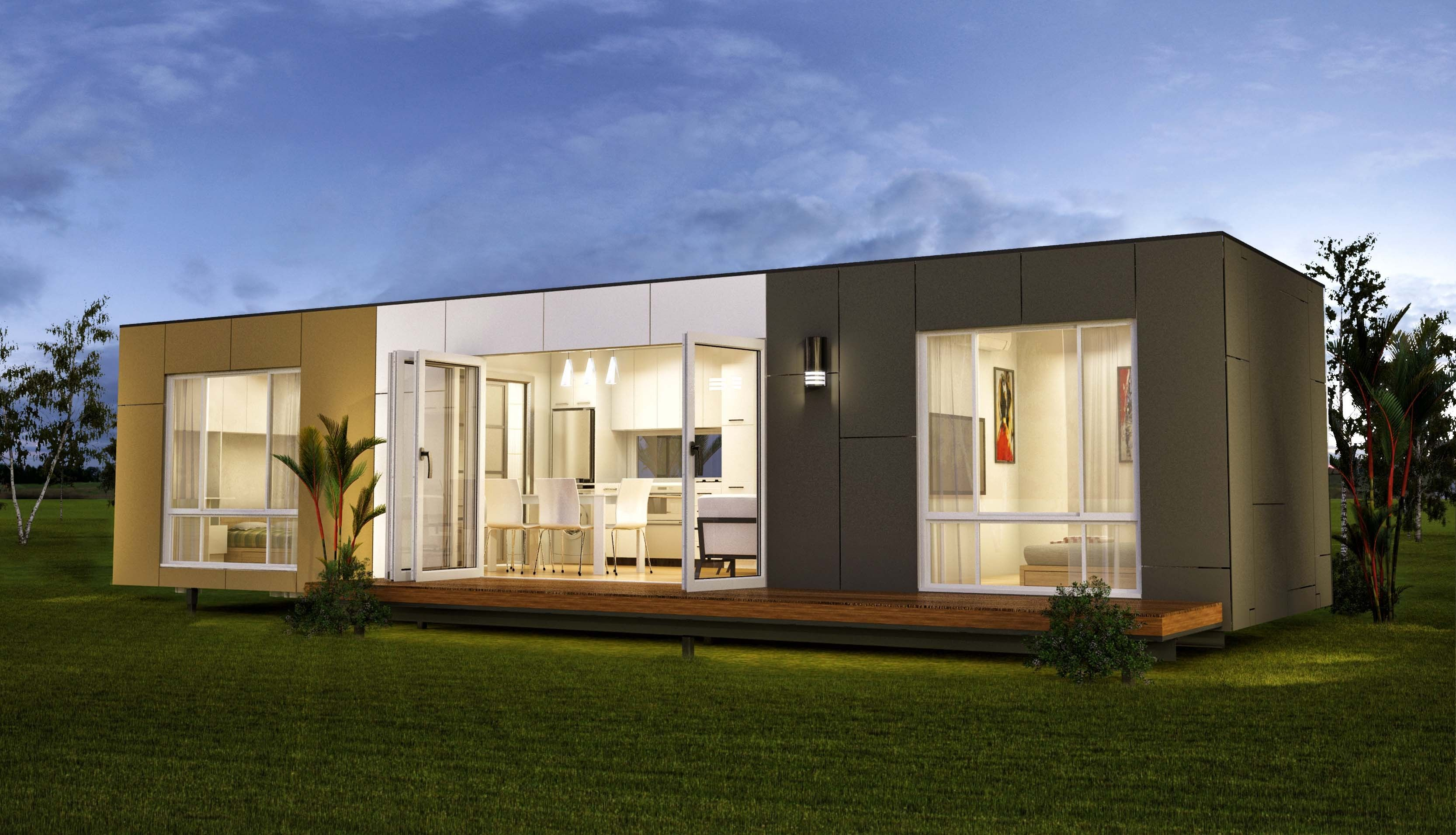San marino two bedroom granny flats prefab container for Modular granny flats