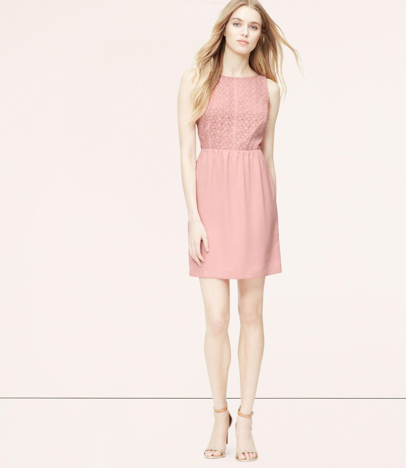 Petite Floral Lace Bodice Dress | LOFT | Vestidos | Pinterest | Lace ...