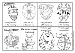 Coloriage De Paques En Anglais.The Easter Colours Mini Book Anglais
