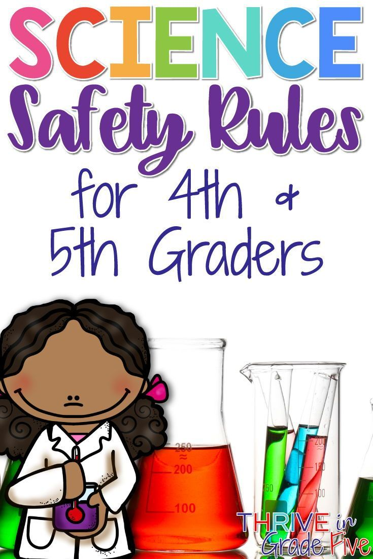 Science Safety Rules for 4th and 5th Graders Science
