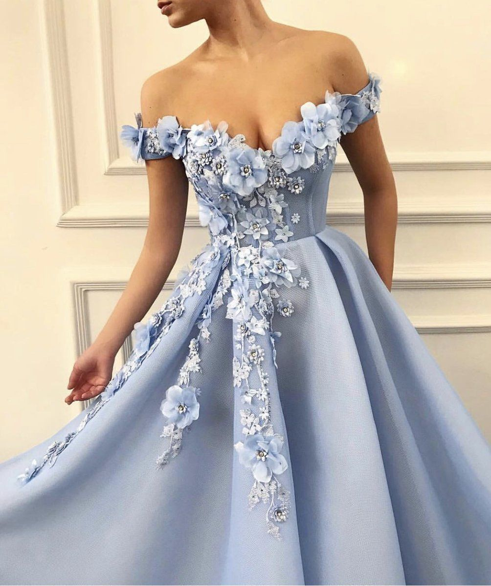 a3b2e73c0cc7a ... prom by Kelsey. Details - Baby blue dress color - Mesh/net 3D fabric -  TMD handmade embroidered