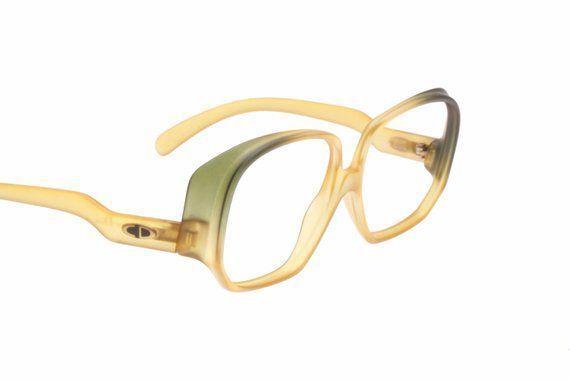 Christian Dior rare  unusual bicolor shades vintage oversized eyeglasses frames  Dior Eyeglasses  Trending Dior Eyeglasses  Christian Dior rare  unusual bicolor shades vi...