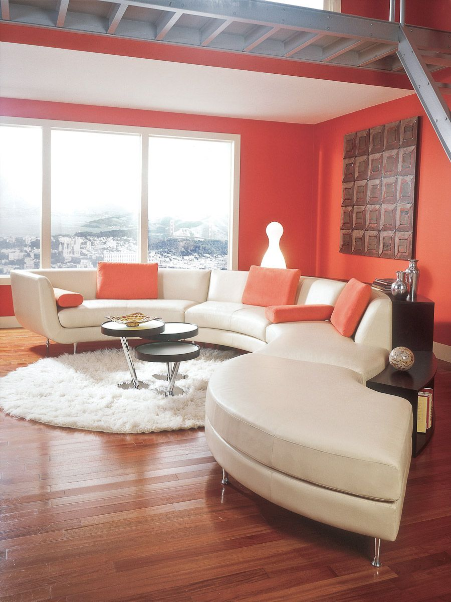 living room ideas with leather furniture%0A Add some curves to your  livingroom  furniture