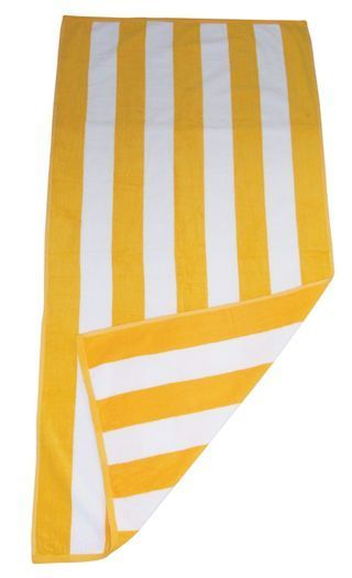 Simba Towels Yellow And White Stripe Beach Towels Yellow Towels