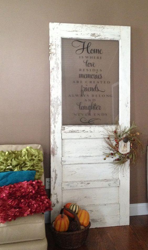 Beautiful Repurposed And Reused Door Ideas - Best Craft Projects & Beautiful Repurposed And Reused Door Ideas | Repurposed Doors and Craft
