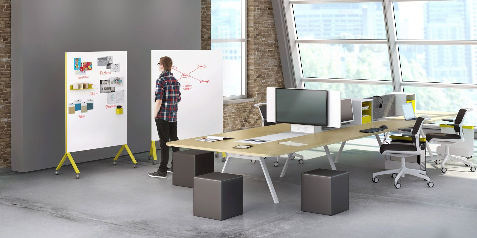 Get more creative with modern office furniture