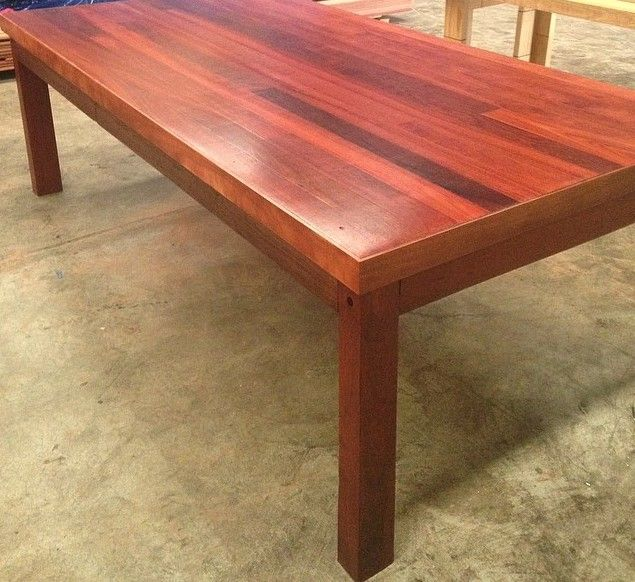 natural red gum dining table made using australian hardwood tongue rh pinterest com