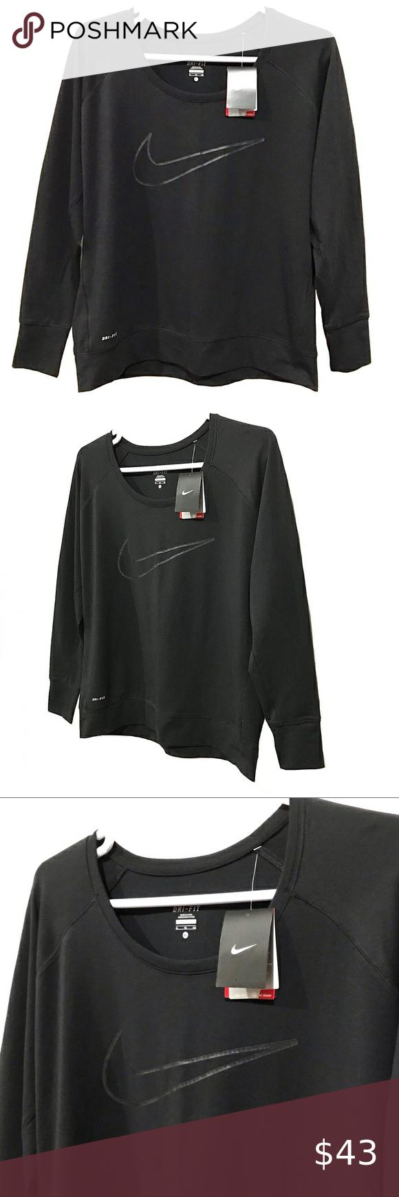 Nike Dri Fit Crewneck Logo Raglan Sweatshirt Raglan Sweatshirts Sweatshirts Nike Dri Fit [ 1740 x 580 Pixel ]