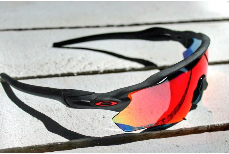 Radar Ev Path Custom Matte Black Camo Positive Red Iridium   Oakley ... 90e0c85caf12
