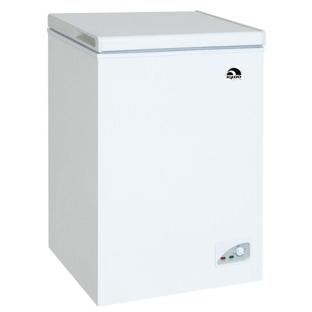 IGLOO  Cu Ft Chest Freezer In White Home The Ojays And - Small freezers at home depot