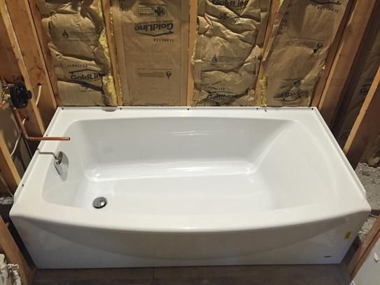 american standard ovation 5 ft right drain bathtub in arctic white