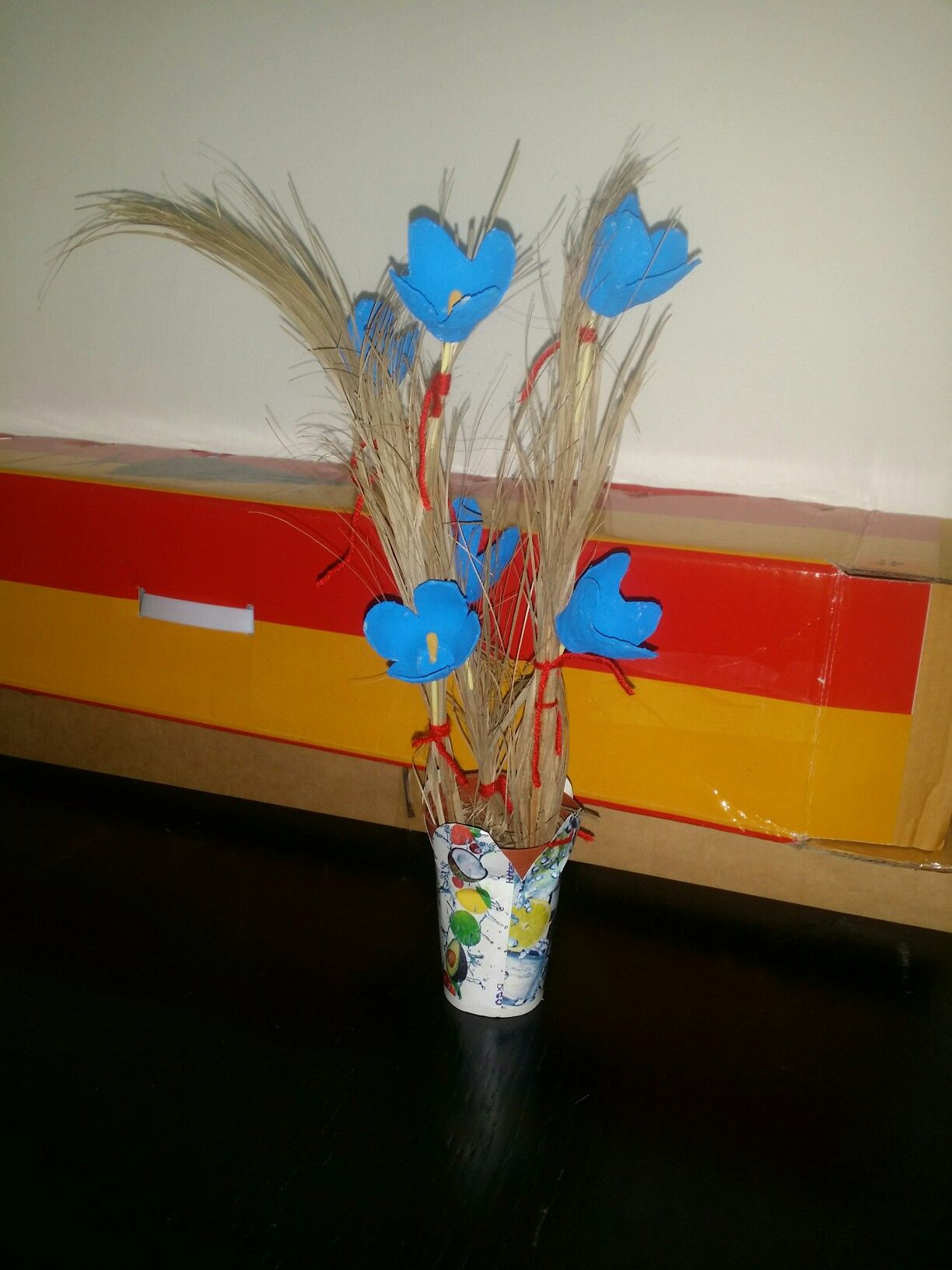 Superb Flowers made from Egg Cups Superb