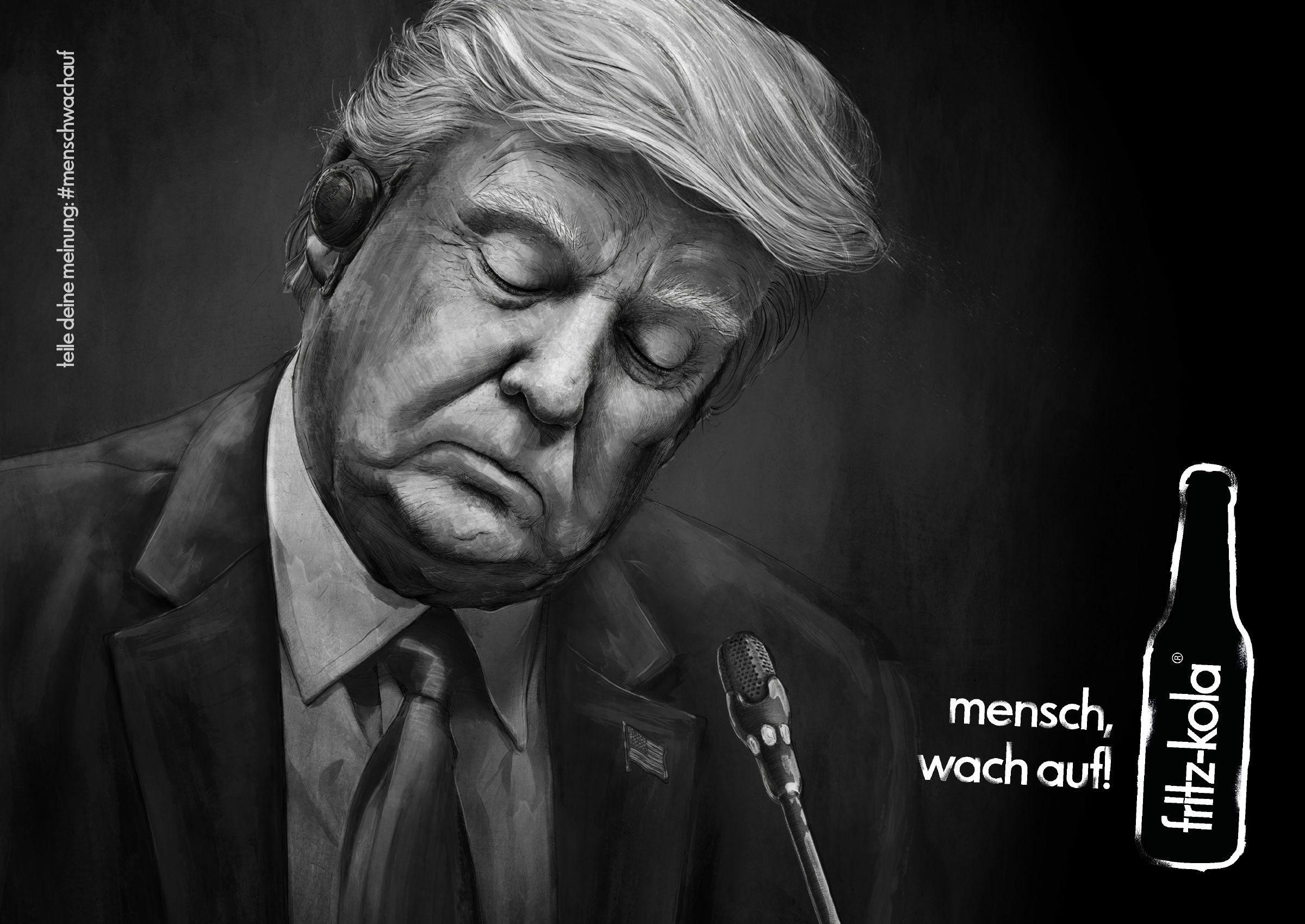 Fritz-kola: Wake up, man! - Trump   SiriusTraffic.com   Pinterest