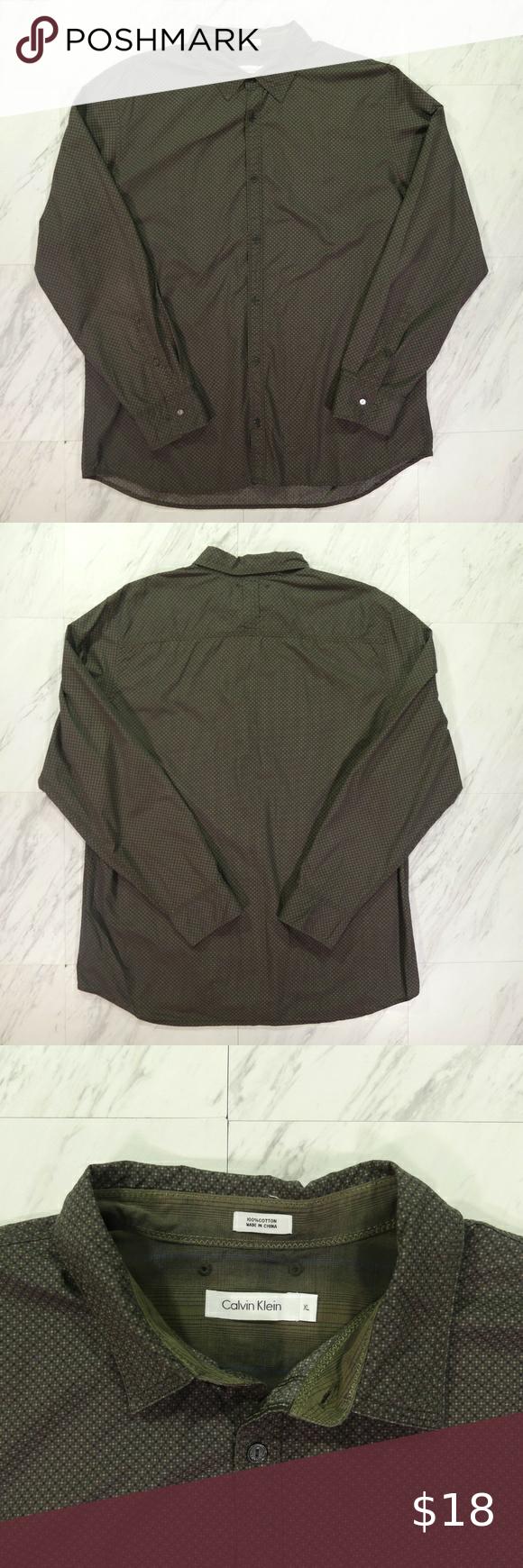 Calvin Klein XL Graph Check Pattern Long Sleeve Sp
