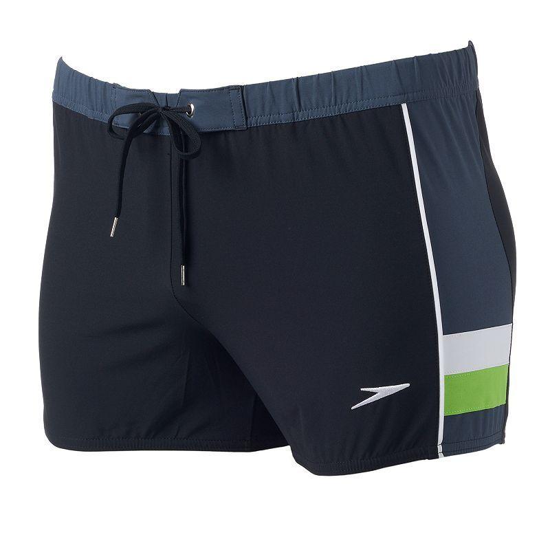 Men's Speedo Stretch Square Leg Swim Trunks, Size: