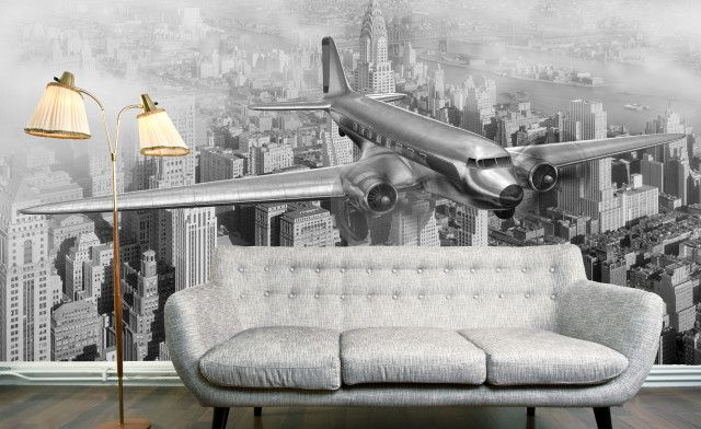 manhattan 1950\u0027s flight wallpaper mural my stuff cityscapemanhattan 1950\u0027s flight wallpaper mural