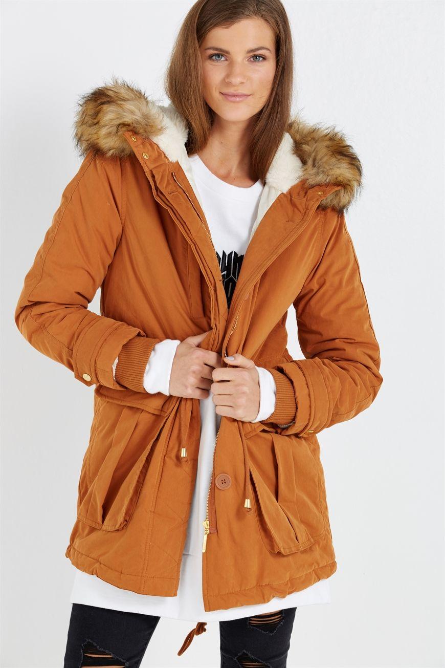 Tara 2 True Parka Cotton On Parka Coats Jackets Jackets [ 1305 x 870 Pixel ]