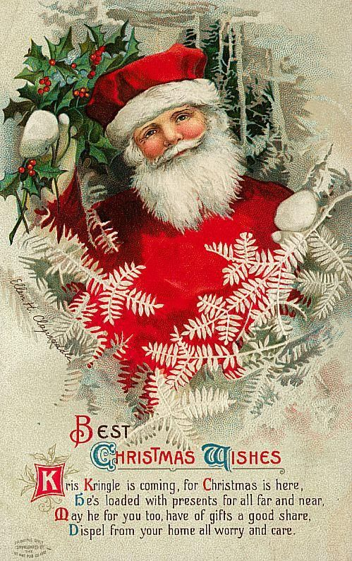 Santa Claus Vintage 112 Free Desktop Wallpapers Cool Wallpapers Best Christmas Wishes Vintage Christmas Cards Vintage Christmas