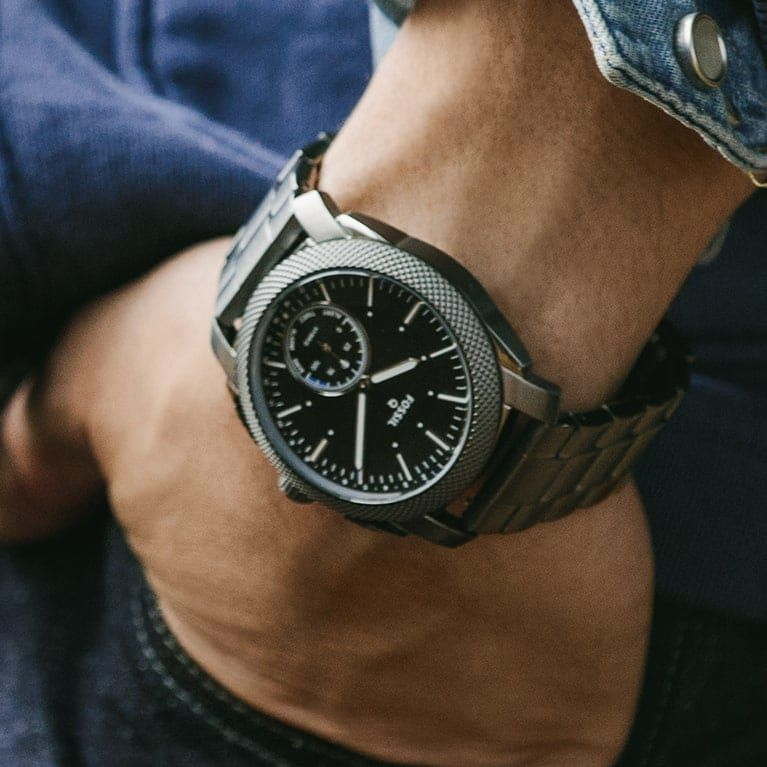 Hybrid Smartwatch Q Grant Stainless Steel Fossil (With