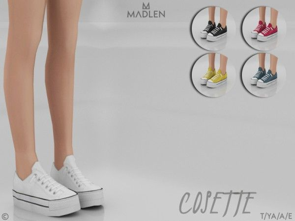The Sims Resource: Madlen Cosette Shoes by MJ95 • Sims 4 Downloads