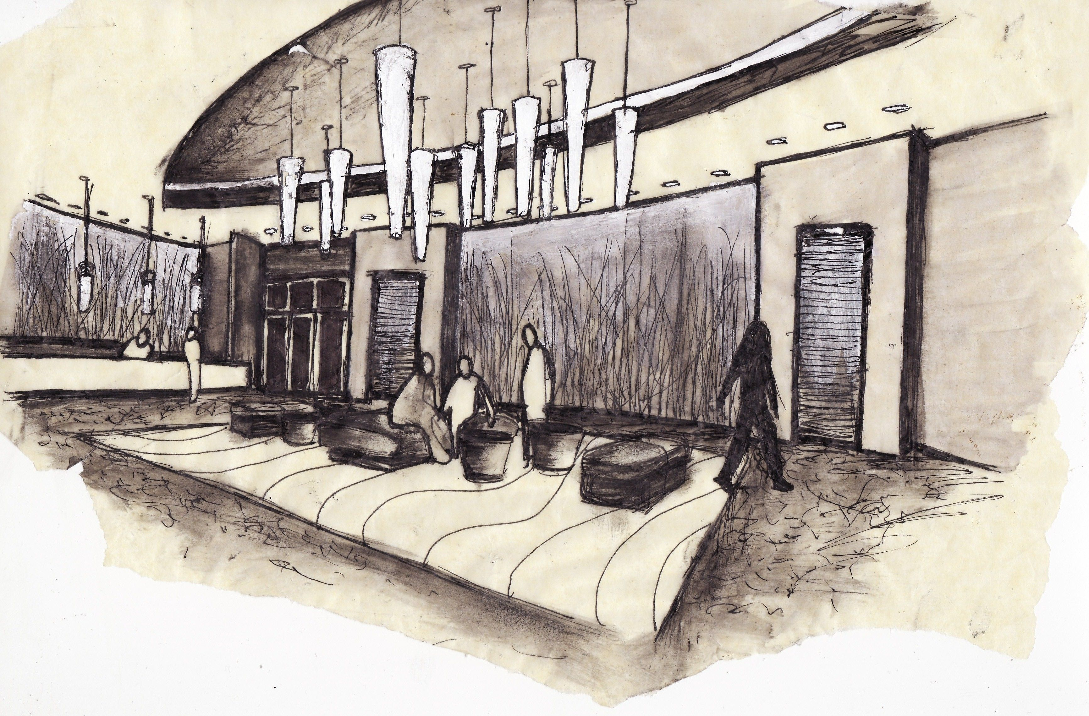 Interior Designers Drawings lobby interior drawing amusing design patio a lobby interior