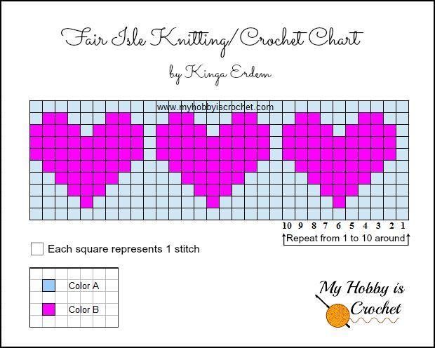 Image result for hearts knitting charts   Intarsia Fair Isle ...
