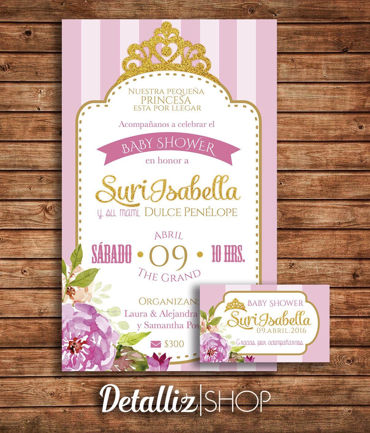 Invitacion Baby Shower Coronita Niña Baby Shower Girl