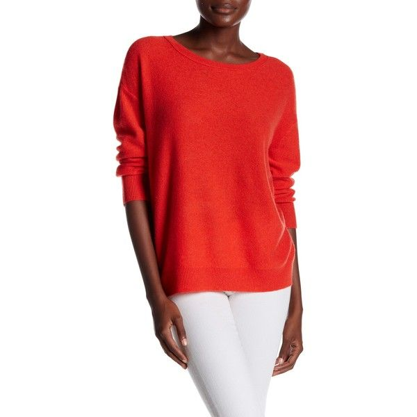 Inhabit Basic Cashmere Wide Crew Neck Sweater ($70) ❤ liked on ...