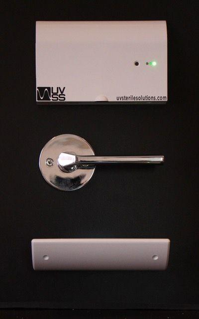 The Uv Door Handle Attendant Is A Set Of Uvc Light Fixtures That Can Be Mounted On Any Door To Safely And Effectively Bathroom Door Handles Door Handles Handle