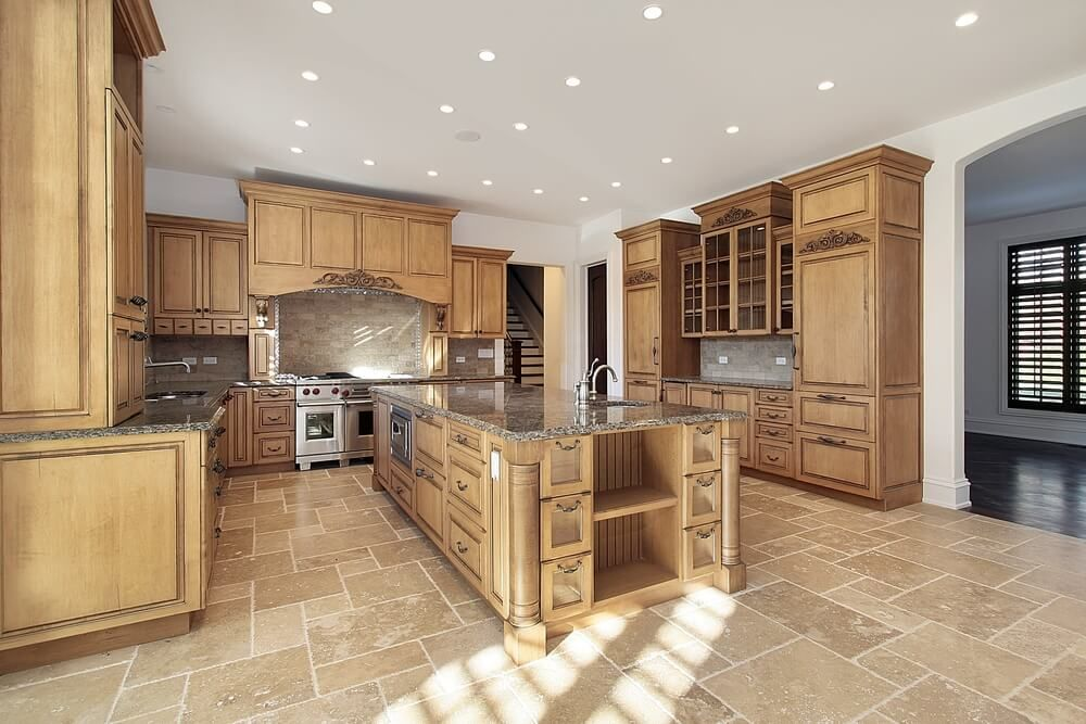 43 New and Spacious Light Wood Custom Kitchen Designs Stone