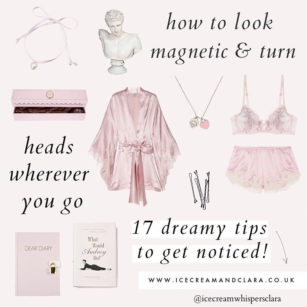 Girly beauty tips to look pretty, feel like an angel, stand out and how to get noticed! Girly angel aesthetic moodboard #beautytips #aesthetic #moodboard #glowup