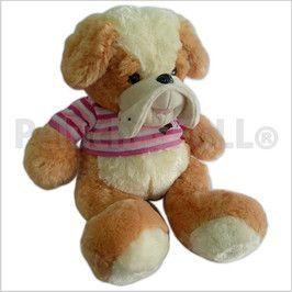 Código: TSP8347A Perro bull dog con remera rayada tejida.