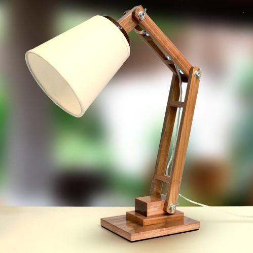 Aparador Moderno Para Sala De Jantar ~ abajur luminária madeira articulado rústico mesa golden Madeira Projetos Pinterest