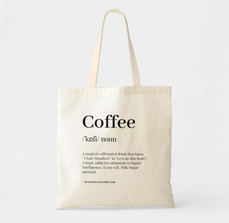 Eco Tote Bag Cotton Tote Bag Shopping Bag Custom Name Tote Bag Natural Shopp