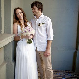 Courtney Matts Casual Beach Wedding Bride Groom