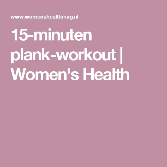 15-minuten plank-workout | Women's Health