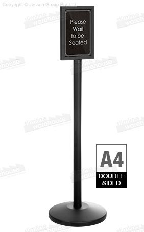 The A4 Poster Display Stand Is A Durable Designed To Up Daily Use In Heavily Trafficked Areas Made Of Steel Holder Has Black