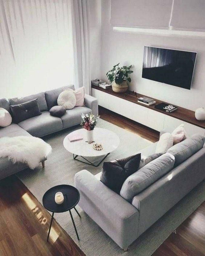 Photo of Stunning Open Plan Living Room with DelightFULL Lighting Design #Decoration #hom…
