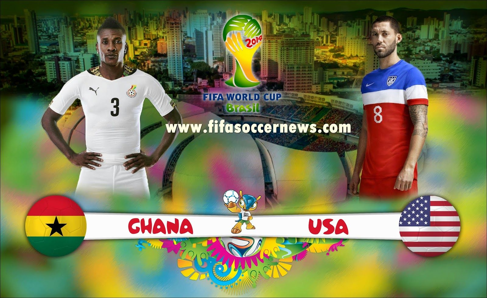 Usa Vs Ghana Again Face Each Other In Fifa World Cup 2014 On 16 June 2014 Same Teams Played In 2010 Fifa World Cu World Cup Groups Soccer World Usa World Cup