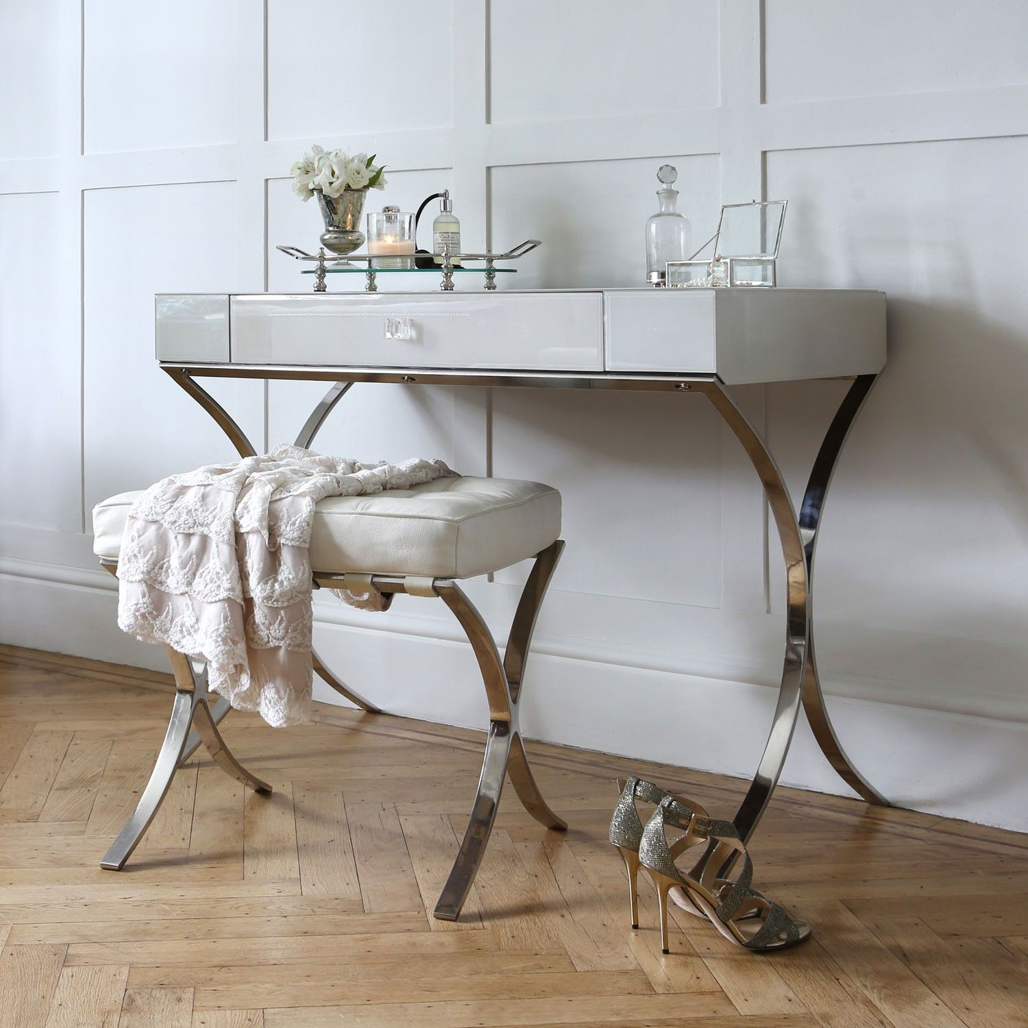 Shagreen dressing table iced ivory dressing tables for C table for bedroom