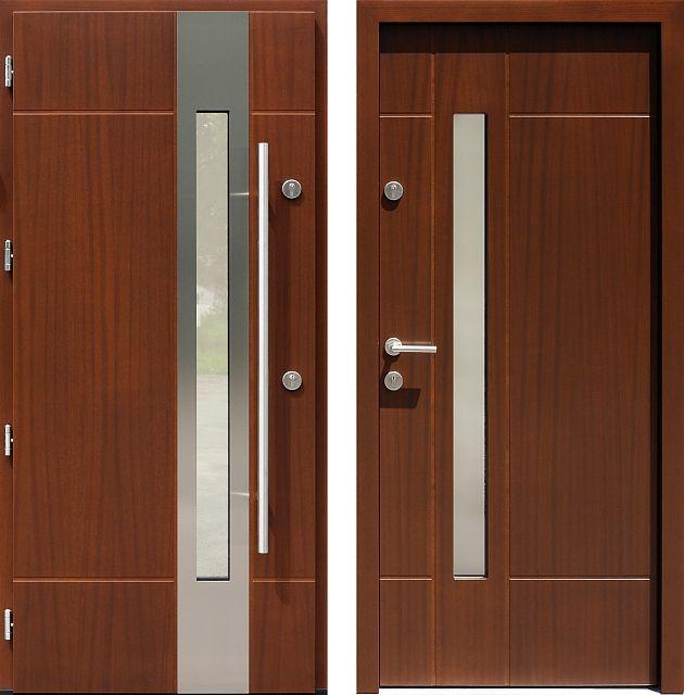 Drzwi wejściowe z kolekcji INOX model 439,1-439,11 produkcji AFB-Kraków