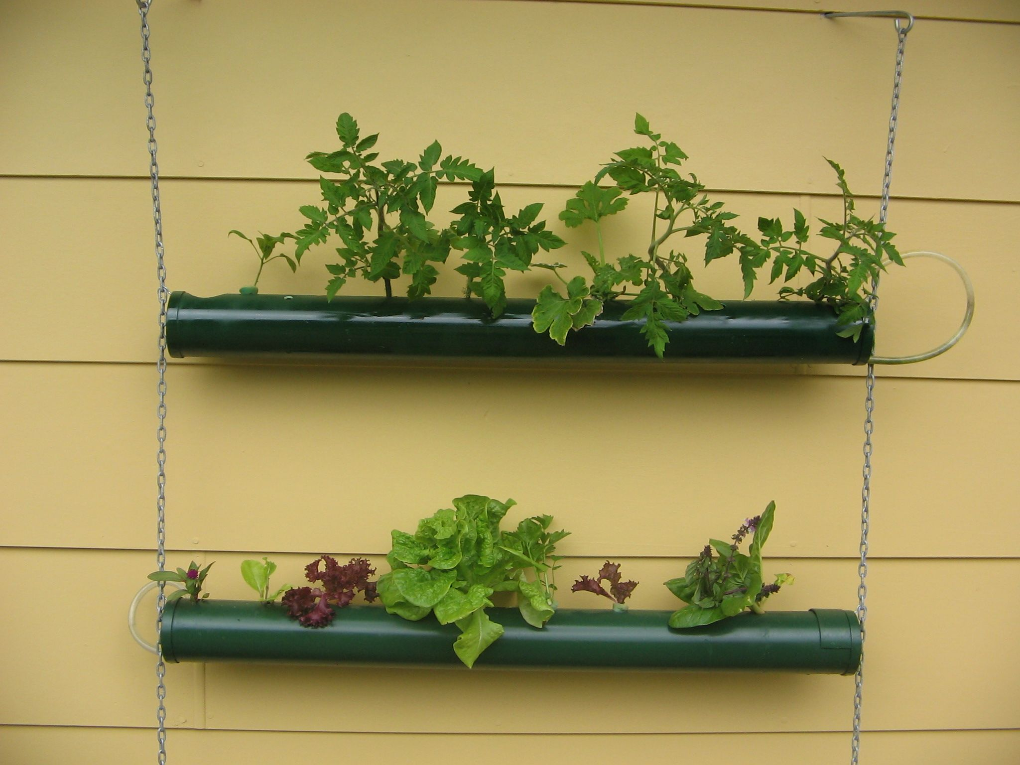 Accessories & Furniture, Awesome Wall Mounted Flower Pots Handmade ...