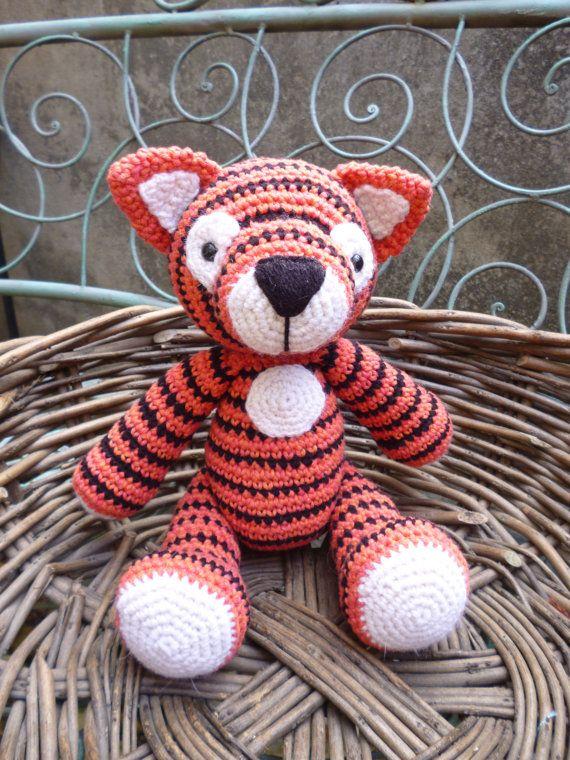 Tiger Tom Amigurumi Crochet Pattern by mojimojidesign on Etsy, $4.20