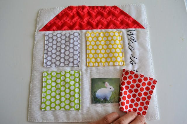 Riley Blake Designs -- Cutting Corners: Quiet book ~Knock Knock Who is There?